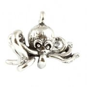 Octopus 3D Sterling Silver Charm - Sea Life and Beach